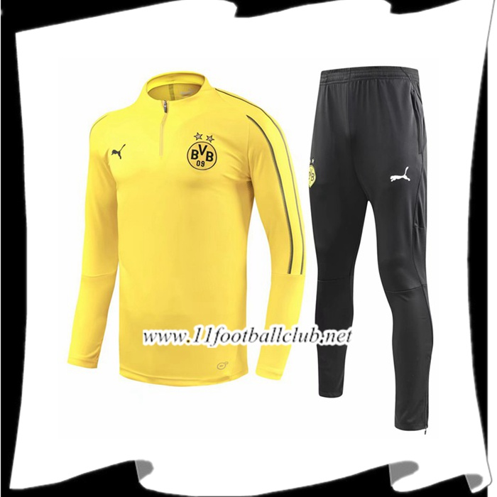 Site De Ensemble Survetement de Foot Dortmund BVB Jaune 2018/2019 Pas Cher Shopping