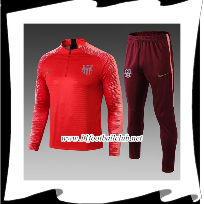 Le Nouveau Ensemble Survetement de Foot Barcelone Rouge Strike Drill 2018/2019 Vintage