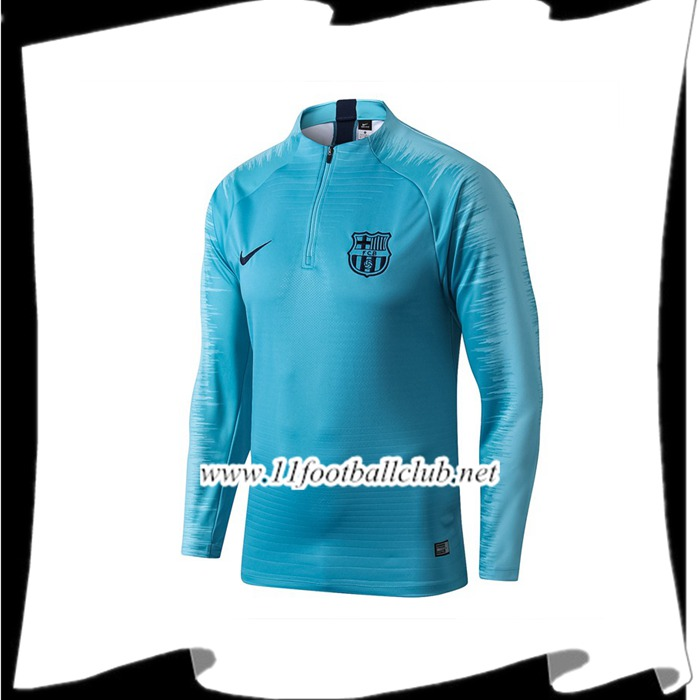 Le Nouveau Sweatshirt Training FC Barcelone Bleu Strike Drill 2019/2020 Vintage
