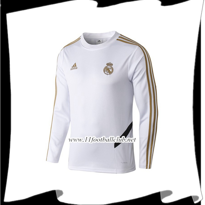Le Nouveaux Sweatshirt Training Real Madrid Blanc 2019/2020 Authentic