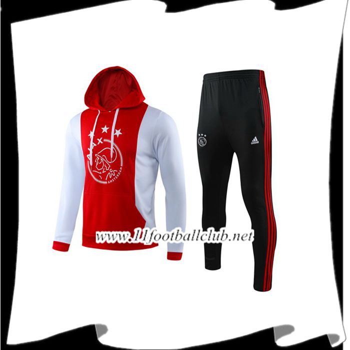 Le Nouveaux Ensemble Capuche Survetement Foot AFC Ajax Rouge 209/2020 Authentic