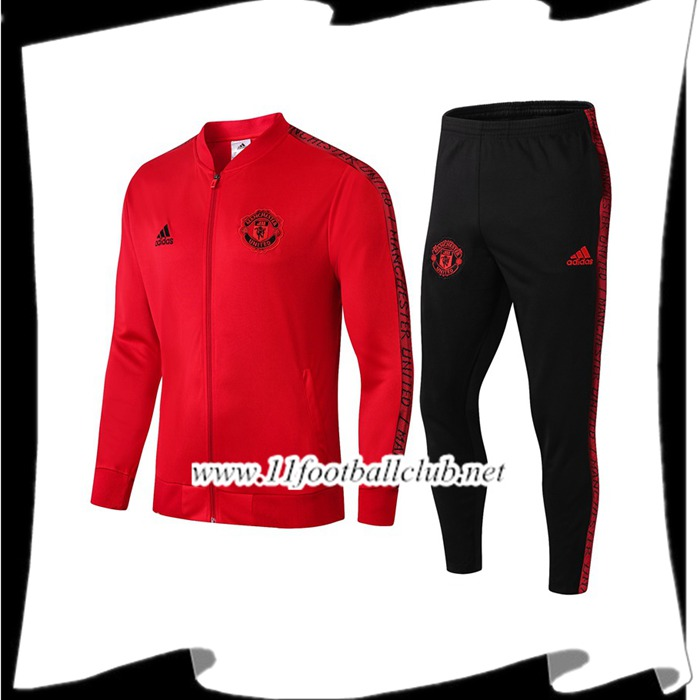 Le Nouveau Ensemble Veste Survetement Manchester United Rouge 2019/2020