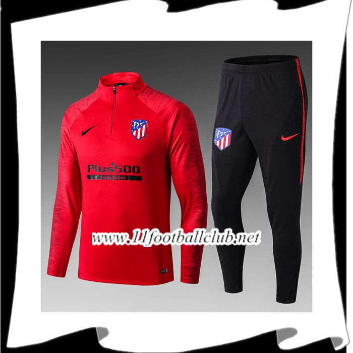 Le Nouveau Ensemble Survetement de Foot Atletico Madrid Enfant Rouge 2019/2020 Officiel