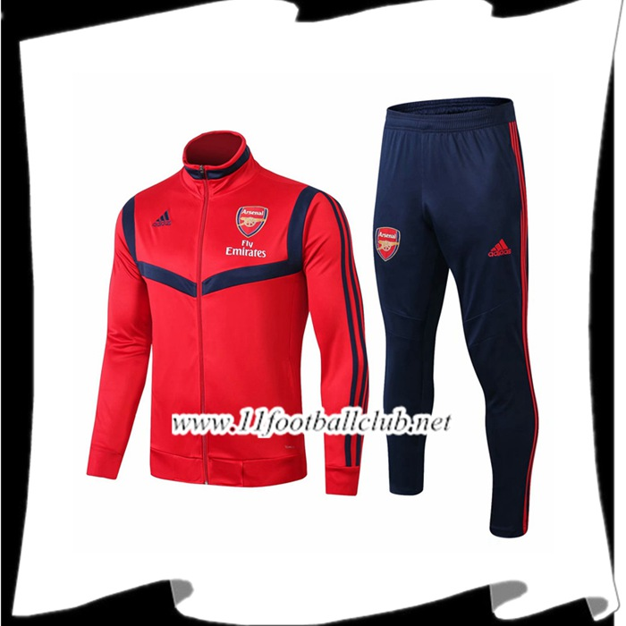 Le Nouveaux Ensemble Veste Survetement Arsenal Rouge 2019/2020 Authentic