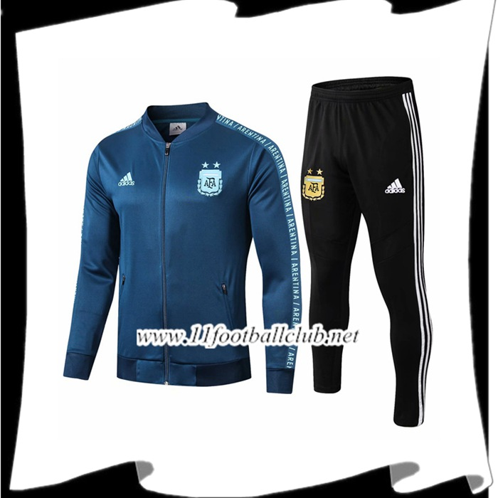 Le Nouveaux Ensemble Veste Survetement Argentine Cyan 2019/2020 Authentic