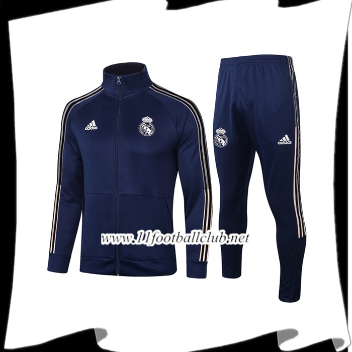 Le Nouveau Ensemble Veste Survetement Real Madrid Bleu Marin 2020/2021